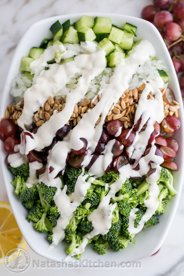 Broccoli Grape and Cucumber SaladBroccoli Grape, Side Dishes, Broccoli Salad, Healthy Eating, Salad Recipe, Cucumber Salad, Food Cooking, Healthy Food, Food Recipe