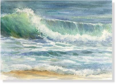 Acuarela - Pinturas marinos costeros por el cortocircuito de Susie