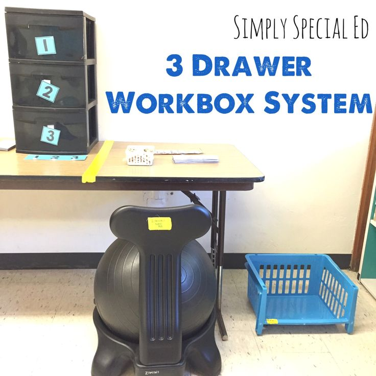 Simply Special Ed 3 Drawer Workbox System