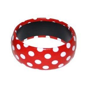 bracelet couleur a pois accessoire ann es 50 60 bijou. Black Bedroom Furniture Sets. Home Design Ideas
