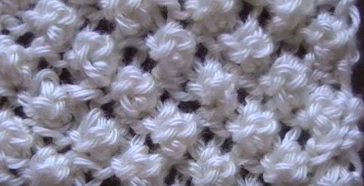 Receita de Tricô: Ponto pipoca em tricô