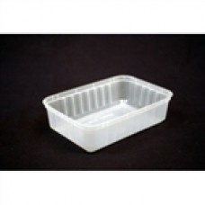 RECTANGLE CONTAINER 750ML PLASTIC RIDGED 500/CTN In Stock   $76.18 Let guests take food home or store ingredients freshly behind the counter. Plastic containers are the most affordable way to store food and provide a practical solution for guests.