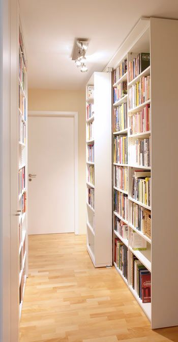 sliding bookshelves/ cd storage-(store albums on back shelves, cd/dvd on front)
