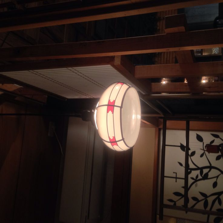 Japanese antique lumpshade. Very artistic and simple!