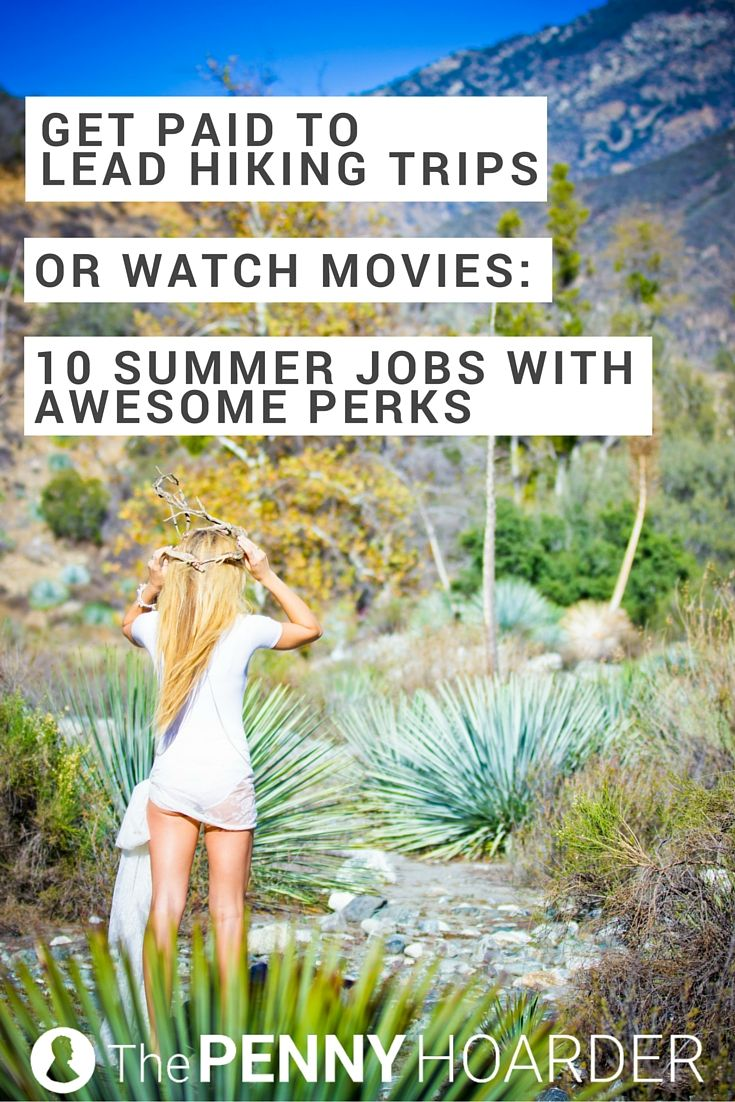 Whether you're looking for summer work that offers outdoor adventures or air conditioning, make sure you choose a seasonal job with great perks. Hey, if you can score free rafting trips for your friends or watch the latest movies for free, you'd better take advantage of it. Here are 10 great summer seasonal jobs with sweet bonuses. - The Penny Hoarder http://www.thepennyhoarder.com/summer-jobs-with-awesome-perks/