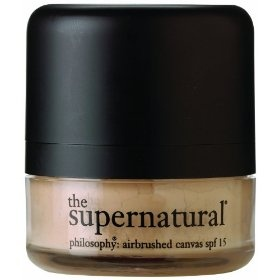 Philosophy Supernatural Airbrushed Canvas Powder, SPF 15, (powder foundation, philosophy) - Great powder to carry around - come with a sponge applicator already attached.