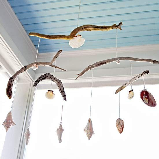 A fun way to use all those shells the kids collect during summer trips to the beach.