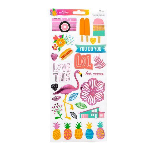 Amy Tangerine - una colección de caprichos - Stickers de 6 x 12 - 60 piezas  Artesanía americana  Ideal para: scrapbooking, tarjeta que hace, planificadores, mezclar los medios de comunicación, vida del proyecto y mucho más.