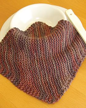 classic pattern for cotton dishcloth knit on the diagonal... to do in a better color, natch