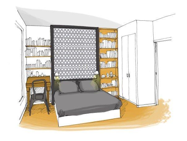 les 25 meilleures images du tableau trousso sur pinterest appartements architectes et croquis. Black Bedroom Furniture Sets. Home Design Ideas