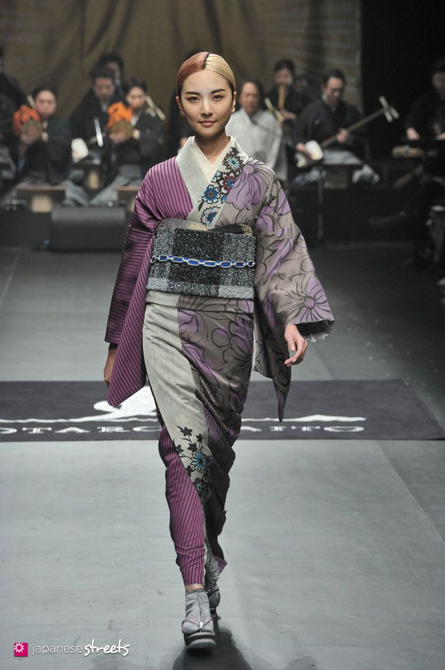 140319-7776 - Autumn/Winter 2014 Collection of Japanese fashion brand JOTARO SAITO on March 19, 2014, in Tokyo.