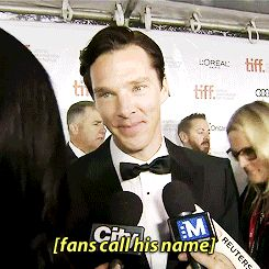Benedict Cumberbatch at TIFF---this never gets old. ;)