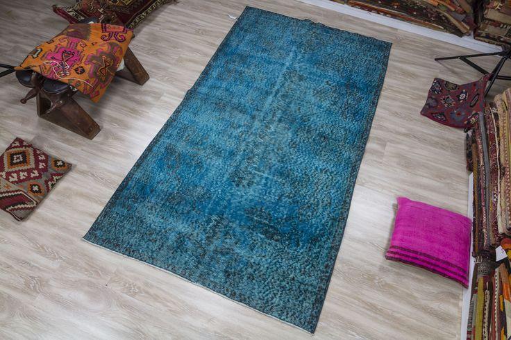 Mavi Siyah Turkish Carpet
