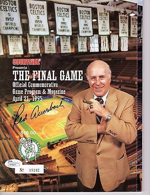 Magazines 73398: Red Auerbach Authentic Signed Boston Celtics Final Game Program Rare Jsa Coa -> BUY IT NOW ONLY: $199 on eBay!