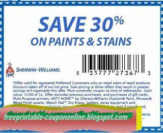 graphic regarding Sherwin Williams Printable Coupon identified as No cost Printable Sherwin Williams Discount codes Printable Discount coupons