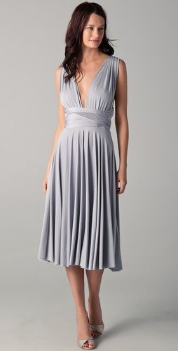 Two birds dress for bridesmaids - Change silhouette for different body types