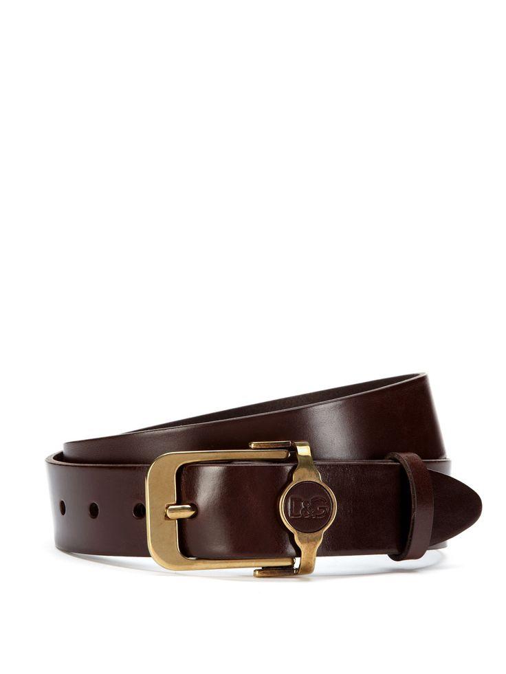 Leather Logo Belt by Dolce & Gabbana at Gilt