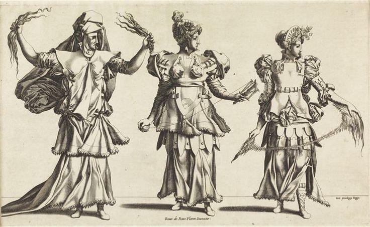 René Boyvin (1525-1580/1598) - Les trois Parques - gravure