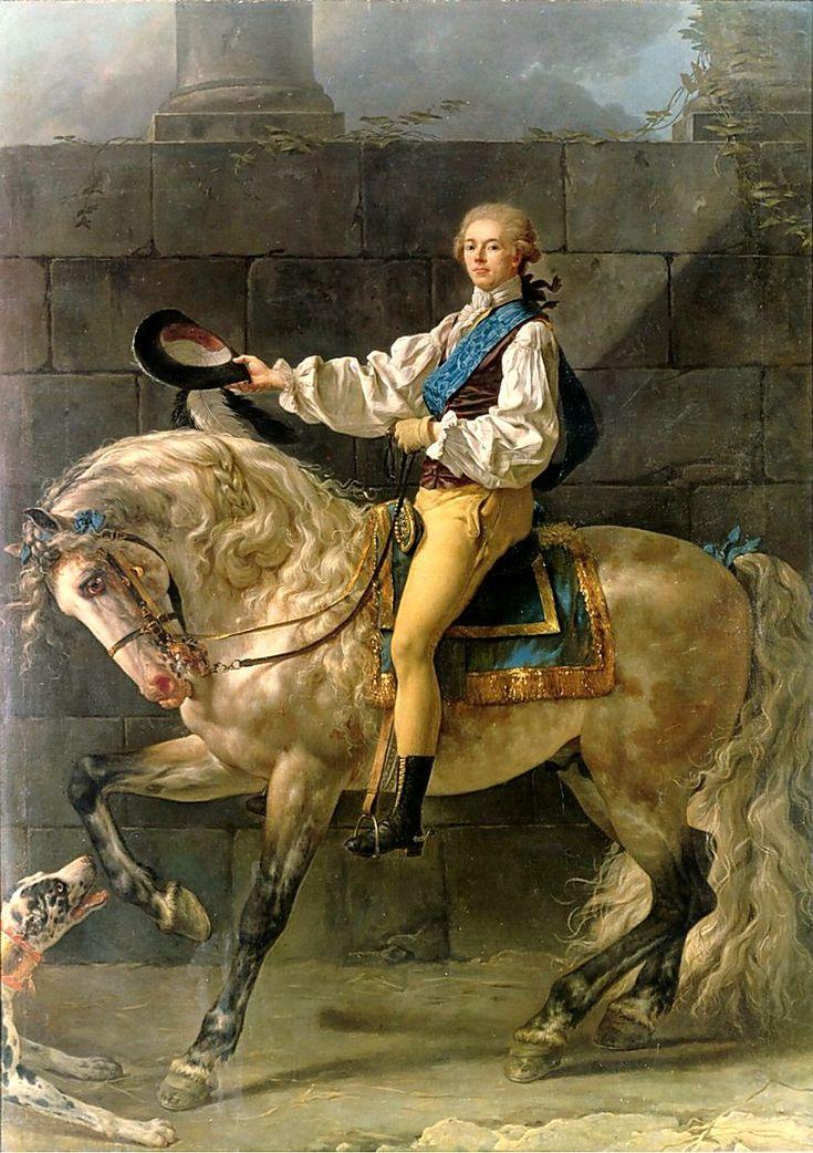 1781 Jacques-Louis David - Equestrian portrait of Stanisław Kostka Potocki