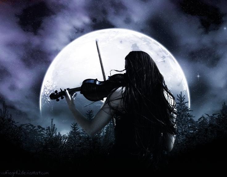картинки луна готика прической
