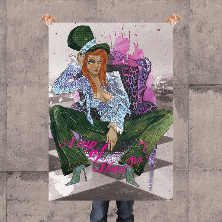 THE HATTER POSTER BY KSANEEMPIRE FOR MOLEECO CLOTHING Special collection of posters designed by KsanaEmpire specifically for moleeco clothing. Most of the themes of the posters are also available on clothings.  Our posters are printed on high quality paper.