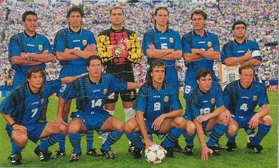Argentina team group at the 1994 World Cup Finals.