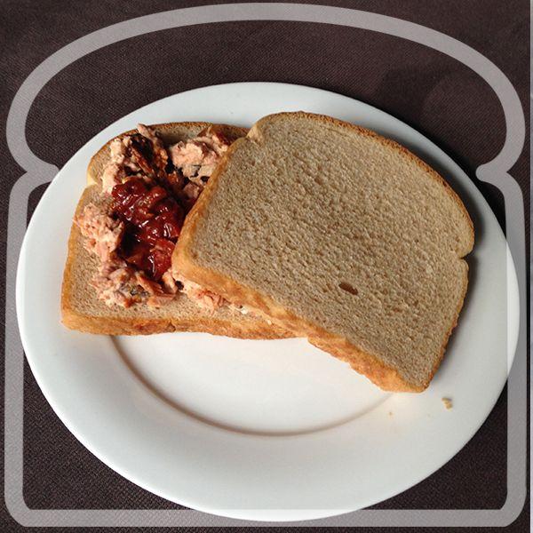 Rico sandwich de atún con chipotle.#Sandwich #Wonder #DiferenteEsMejor