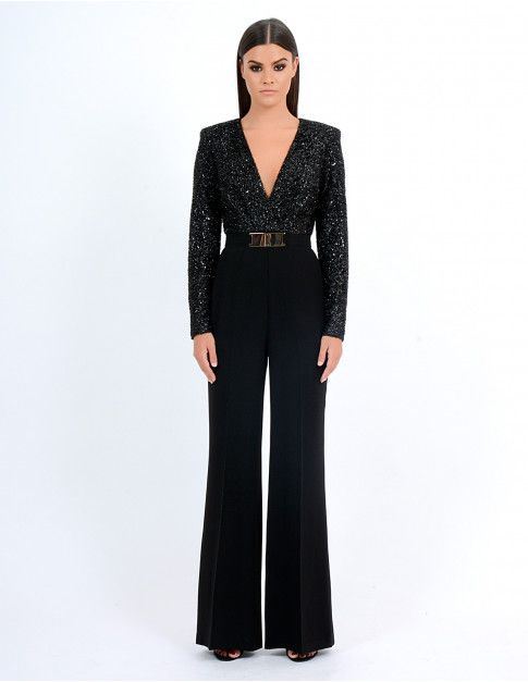 6722011363be SUKI - Black Glitter Jumpsuit - Jumpsuits - All Clothing