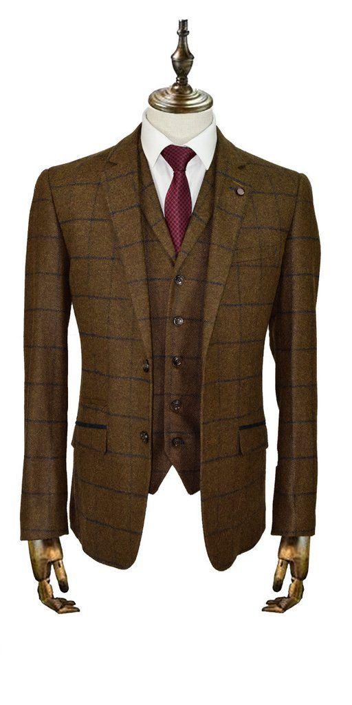 Austin Tan Tweed Suit