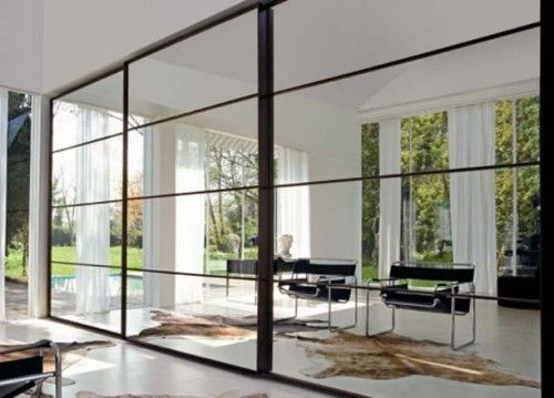 full wall hallway closets | ... Closet with Full Glass Mirror 500x359 Sliding Door Closet with Full