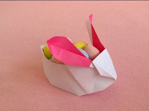 Origami Instructions: Cute Origami Rabbit, Perfect Bunny Box for Easter