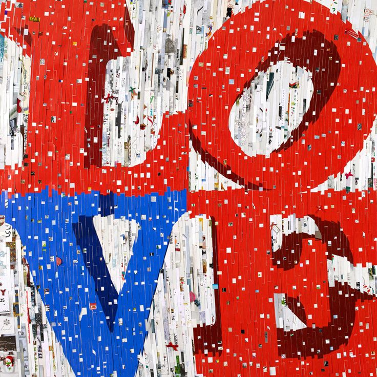 'love', 2012 made from xmas cards