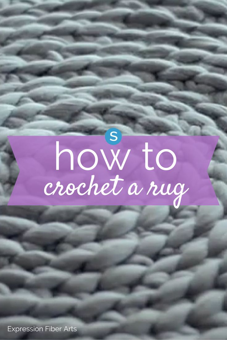 Learn how to easily crochet a rug by hand and without a hook. This is a fun DIY craft that will add a beautiful design to your home decor. Get the instructions: http://simplemost.com/heres-a-super-easy-way-to-crochet-a-rug-no-hook-required?utm_campaign=social-account&utm_source=pinterest.com&utm_medium=organic&utm_content=pin-description