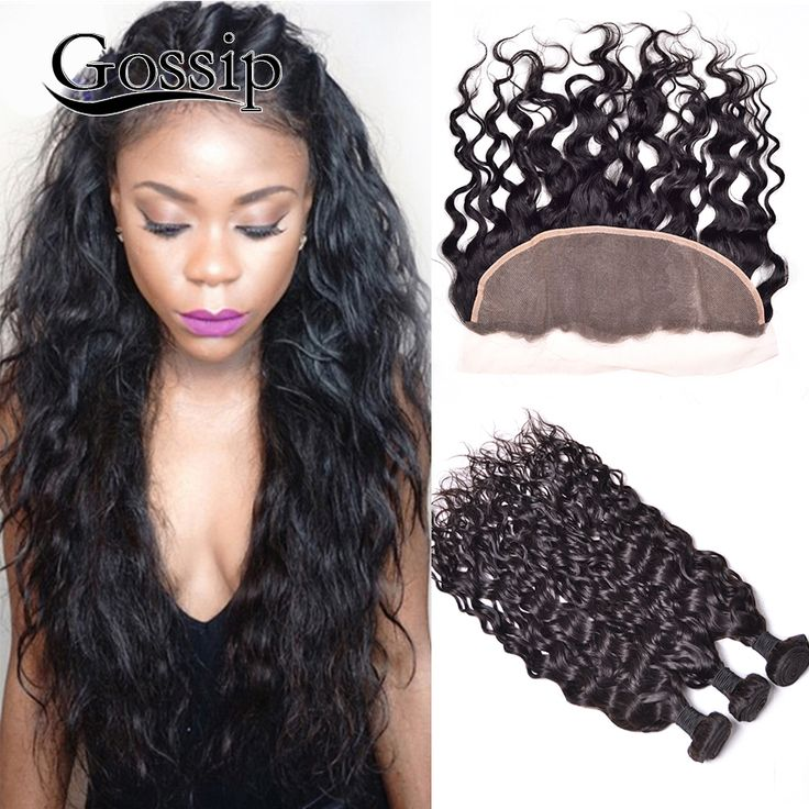 Peruvian Virgin Hair Water Wave With Closure Lace Frontal Closure With Bundles Curly Weave Human Hair Bundles With Lace Frontals -- For more information, visit image link.