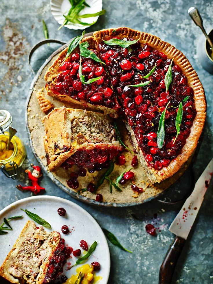 Jamie's Turkey, Pork & Cranberry Pie | Turkey Recipes | Jamie Oliver