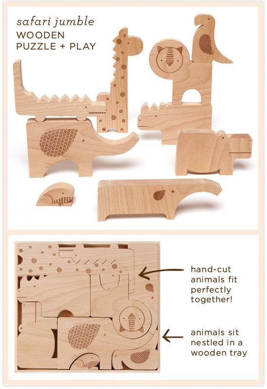safari jumble wooden puzzle and play