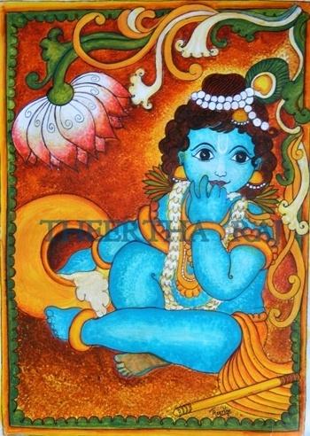 149 best indian art kerala mural paintings images on for Asha mural painting guruvayur
