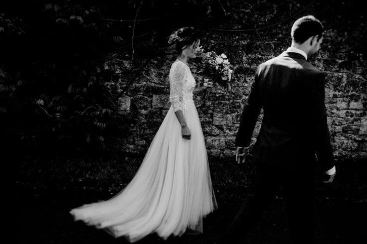 Couldn't resist a black and white shot with some blurred edges. Photo by Benjamin Stuart Photography #weddingphotography #blackandwhite #bride #weddingdress #watters #dreamdress