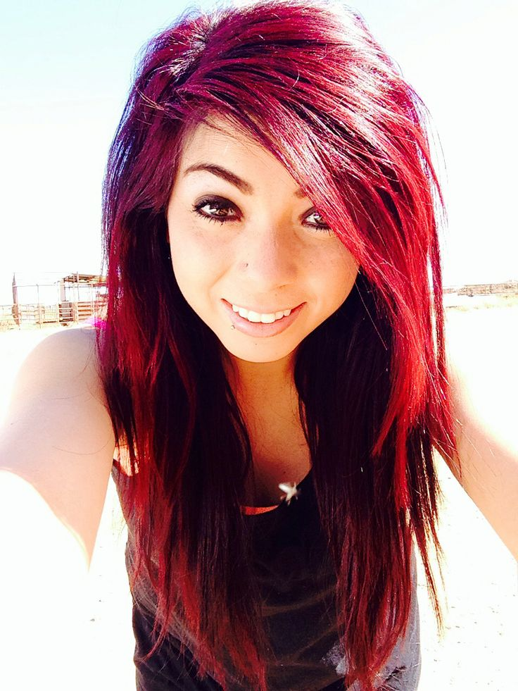 Intense Red And Magenta Mixed Hair Hair Color Styles