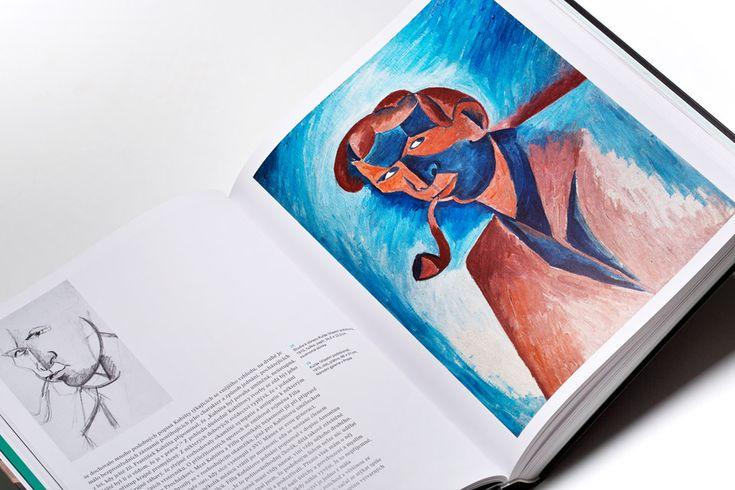 Monography Bohumil Kubišta - Graphic design by Dynamo design, photo of printed realization by w:u studio