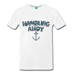Hamburg Ahoy T-Shirts, Tops, Hoodies und Geschenkideen für Hamburger Wasserratten, Segler, Bootsführer, Matrosen, Kapitäne und Skipper auf Elbe und Alster.