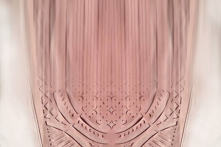 Rosette in blush pink for our SS15 collection / CUTCUUTUR laser cat apparel /distorted