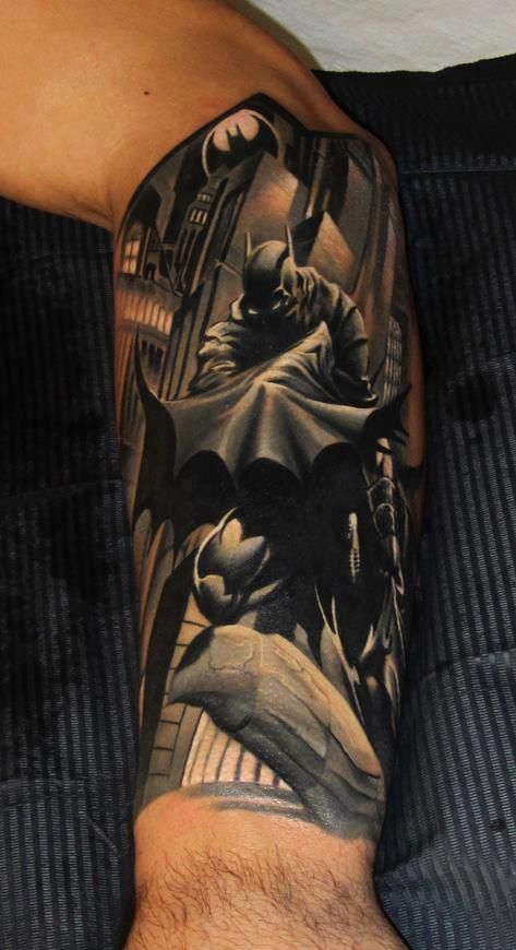 Artist: Piotr Deadi Dedel #Tattoos #Batman #Comics #DC. @Bermuda Shorts. / just amazing!!