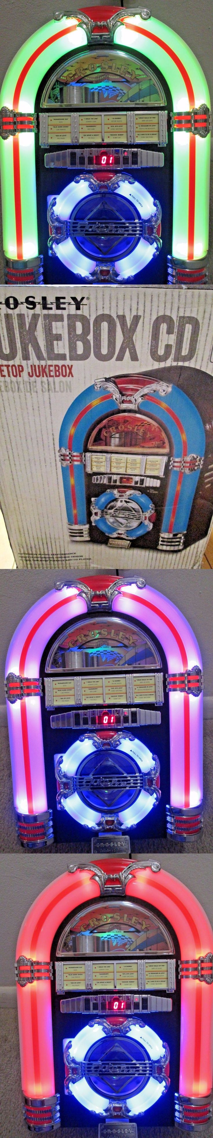 CD Players and Recorders: Nib Crosley Cherry Table Led Jukebox W Cd Player Am Fm Radio And Auxiliary Output -> BUY IT NOW ONLY: $122.99 on eBay!
