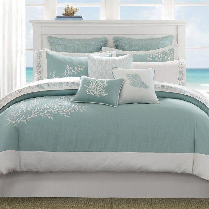 Coastline Reversible Comforter Set With Images Bedroom