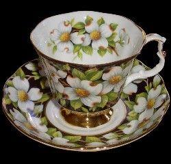 Royal Albert - Provincial Flowers - Series. British Columbia dogwood. www.royalalbertpatterns.com