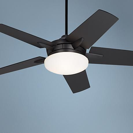 """$270 Need to check if can be use outdoor! 52"""" Casa Vieja Endeavor® Matte Black Ceiling Fan"""