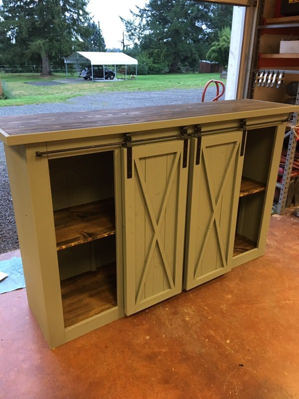 Sliding Barn Door Entertainment Console For Sale In Monroe Wa In