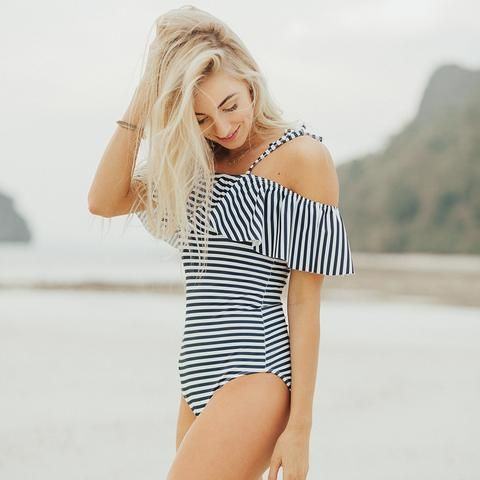 The Wave, Pana Stripe One-Piece Swimsuit