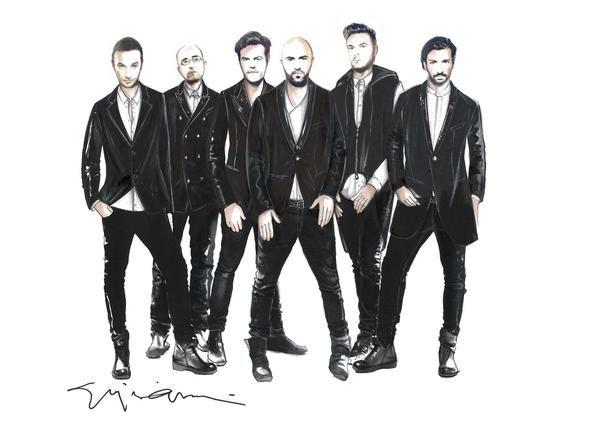 Negramaro Una storia semplice Tour 2013: la band salentina veste Giorgio Armani, i bozzetti #giorgioarmani #armani #music #negramaro